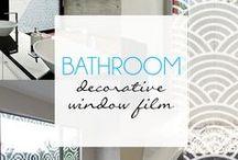Bathroom Decorative Window Film