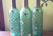 Бутылки и бокалы
