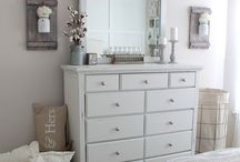 Bedroom Inspiration / A collection of ideas for bedroom, whites, creams, navy blue, nautical, crisp and clean.