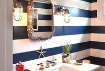 Nautical Themed Bathroom / A collection of ideas for a nautical themed bathroom