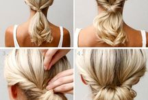Updos for Long Hair / How to style long hair. A collection of updos.