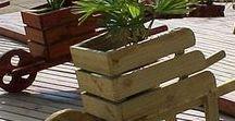 Arranjos Exteriores em madeira / Acessórios vários construidos em madeira e usados no exterior.