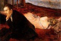 A l'ingénue, allongée nue / Un homme, une femme, un lit... avant ou après l'amour
