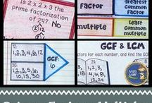Exponents, Prime, Factors / Find number sense activities to add to your lessons. Check out the ideas for exponents, square roots, prime and composite numbers, prime factorization, factors (greatest common factor), and multiples (least common multiple). This math board includes games, worksheets, interactive notebook ideas, anchor charts, TPT resources, and more for 4th, 5th, 6th, 7th, and 8th grade classrooms.