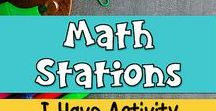 Math Stations and Centers / Creative math ideas and activities for your math stations or math centers. Students can engage in fun activities with math games, task cards, interactive notebooks, and small groups. Teach your students to enjoy math no matter what the skill.