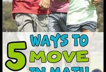 Movement in Math / It's time to get students out of their seats and moving in math. Here are ideas to help you get your students moving.