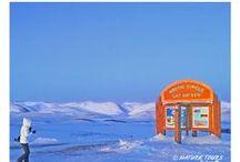 Travel stories of Yukon, NWT and Alaska / Larger than life. Travel stories of Yukon, Northwest Territories and Alaska.