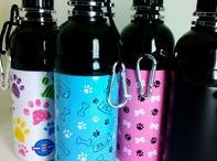Dog Water Bottles / A cool range of Dog water bottles, great for those longer walks. The unique lick'n' flow system releases water as your dog licks.