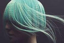Dip Dyed Hair / Pastel, neon, saffron, blue! We love this 90's revival trend