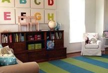 For the Home: Playroom / Playroom decor and playroom organization tips for the home. / by Kasey Trenum