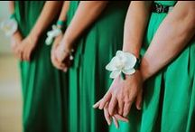 Enchanting Emerald Green / The 2013 Pantone color of the year is an elegant choice for wedding decor.