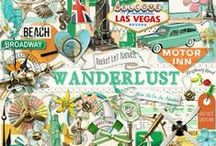 Wanderlust Collection / A travel themed digital scrapbooking collection. / by Raspberry Road Designs