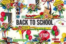 Back To School Collection / A school themed scrapbook kit.