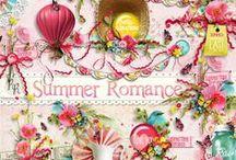 Summer Romance / A sweet summer themed scrapbook collection.