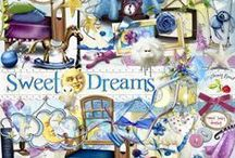 Sweet Dreams Collection / A bedtime themed scrapbook kit.