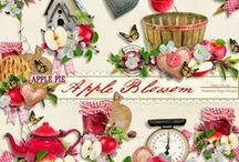Apple Blossom Collection / An apple themed scrapbook collection.