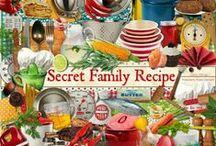 Secret Family Recipe / A cookbook themed scrapbook collection.