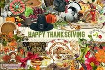 Happy Thanksgiving Collection / A Thanksgiving themed digital scrapbook collection.