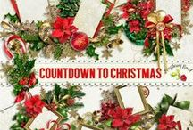 Countdown To Christmas Collection / A beautiful traditional Christmas themed scrapbook collection. / by Raspberry Road Designs