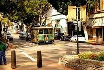 """San Luis Obispo... the HaPpiEsT City in America  / San Luis Obispo was named after Saint Louis, the Bishop of Toulouse, France. SLO was founded in 1772, by a Spanish Franciscan named Junipero Serra. SLO is located roughly midway, between Los Angeles and San Francisco, on the Central Coast and is one of California's oldest communities. Dubbed """"The Happiest Place in America"""" by Oprah Winfrey. I married a Military man, and have been away for almost 20 years. Our families still live there. No matter where we live, SLO will always be our """"home""""."""