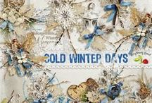 Cold Winter Days / A winter themed digital scrapbook collection. / by Raspberry Road Designs