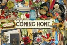 Coming Home Collection. / A digital scrapbook collection about being nostalgic for home. Filled with lots of farm/country themed items sure to have you fondly remembering your own childhood home.