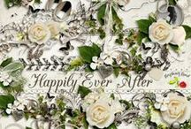 Happily Ever After / A beautiful classic wedding themed scrapbook collection.