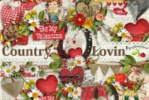 Country Lovin' Collection / A country love themed collection filled with all things country. The perfect scrapbook kit for all those cow town cuties and their cowboys. / by Raspberry Road Designs