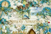 Simply Amazing Scrapbook Collection / A beautiful altered art collection with a vintage look and feel. Designed to scrapbook your beautiful life moments.