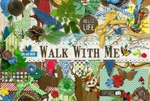 Walk With Me Collection / A fun nature themed collection with lots of wood embellishments and beautiful patterned paper.