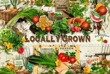 Locally Grown Garden Collection / A huge vegetable garden themed scrapbook collection and more. / by Raspberry Road Designs