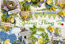 Spring Fling Scrapbook Collection / A beautiful Spring/Easter themed digital scrapbook collection from Raspberry Road.