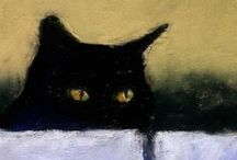 Cats - and Art / All types of art and artistic objects depicting cats.  / by Maine Coon Adoptions