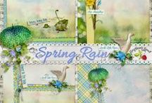 Spring Rain Collection / A beautiful rainy day themed collection filled with lots of beautiful weather related embellishments. / by Raspberry Road Designs