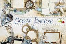Ocean Breeze Scrapbook Collection / A beautiful beach themed digital scrapbook collection from Raspberry Road Designs.