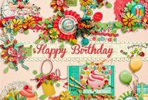 Happy Birthday Scrapbook Collection / A mega birthday themed scrapbook collection. / by Raspberry Road Designs