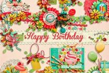 Happy Birthday Scrapbook Collection / A mega birthday themed scrapbook collection.