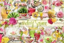 Sunday Soiree / A garden party themed scrapbook collection from Raspberry Road.