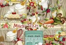 Made With Love Scrapbook Collection / A sweet cooking themed scrapbook kit from Raspberry Road.