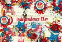 Independence Day Scrapbook Kit / A wonderful Americana themed scrapbook kit filled with everything you need to document your patriotic events. / by Raspberry Road Designs