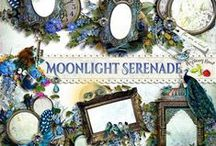 Moonlight Serenade / A beautiful romantic style scrapbook kit with a hint of nostalgia has something for everyone.  / by Raspberry Road Designs
