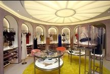 New Concept Boutiques / The new design for the La Perla boutiques created by Italian architect Roberto Baciocchi. The new concept image is being implemented to flagship La Perla boutiques and concessions globally.   The project is clearly inspired by great Italian architecture, and was put together by Baciocchi for La Perla. References to the work of Carlo Scarpa from the Castelvecchio Museum in Verona can be found in the soft, dusty coloured walls dressed in painted fabric, and in the display cases within the store. / by La Perla Lingerie