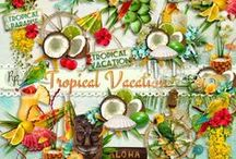 Tropical Vacation Scrapbook Kit / A mega tropical beach themed scrapbook kit from Raspberry Road Designs. / by Raspberry Road Designs