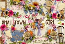 Small Town Girl Scrapbook Kit / A wonderful scrapbook kit designed for those who love all the wonderful things about living in a small town. / by Raspberry Road Designs