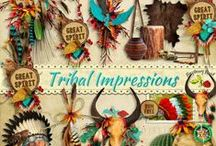 Tribal Impressions Scrapbook Kit / A Native American themed scrapbook kit from Raspberry Road Designs. / by Raspberry Road Designs