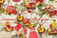 Summer Afternoon Scrapbook Kit / A beautiful all purpose summer themed scrapbook it from Raspberry Road Designs. / by Raspberry Road Designs