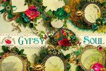 Gypsy Soul Scrapbook Collection / A beautiful bold scrapbook kit with a bohemian look and feel.
