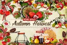 Autumn Harvest Scrapbook Kit / A beautiful Autumn themed scrapbook kit filled with all the goodness of Fall. / by Raspberry Road Designs
