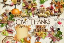Give Thanks Scrapbook Collection / A beautiful Thanksgiving/Fall themed scrapbook collection filled with everything you need for your holiday Autumn projects. / by Raspberry Road Designs