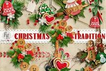 Christmas Tradition / A beautiful Christmas themed scrapbook collection.